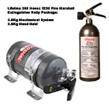 Rally Pack Lifeline Zero 360 3Kg Gas Mechanical Car Fire Extinguisher With 2Kg Handheld