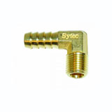 Sytec Brass 90 Degree Union 1/4nptf to 10mm (Facet 479813)